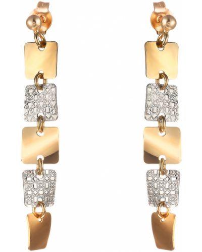 Серьги позолоченные - серебряные Madde