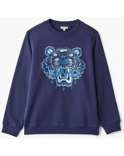 Свитшот синий Kenzo