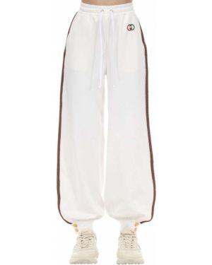 Спортивные брюки с завышенной талией с завязками Gucci