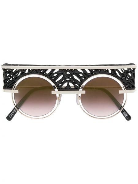 Черные солнцезащитные очки круглые металлические Oxydo