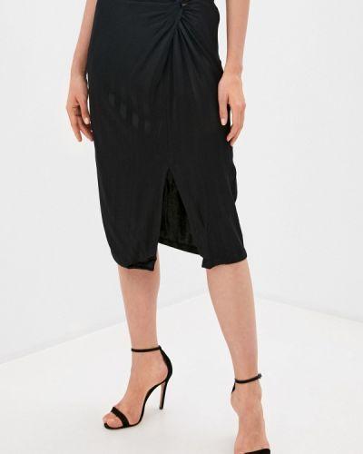 Черная прямая джинсовая юбка Guess Jeans