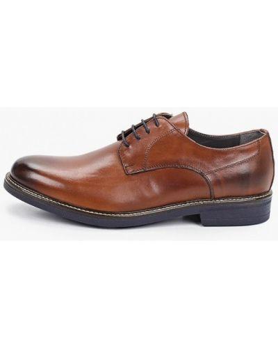 Коричневые кожаные туфли S.oliver