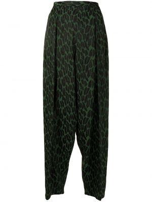 Зеленые брюки с принтом Toga Pulla