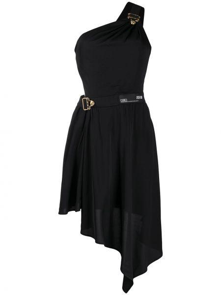 Джинсовое платье на одно плечо на молнии Versace Jeans Couture
