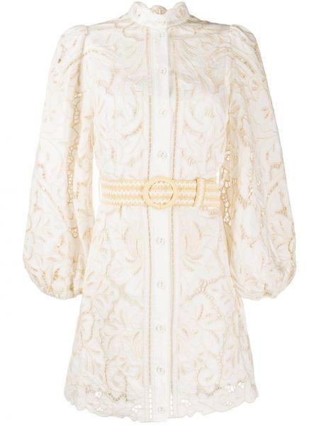 Платье мини с вышивкой на пуговицах Zimmermann