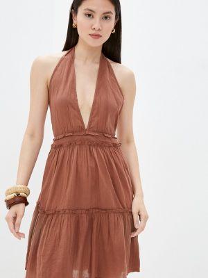 Коричневое платье Calzedonia