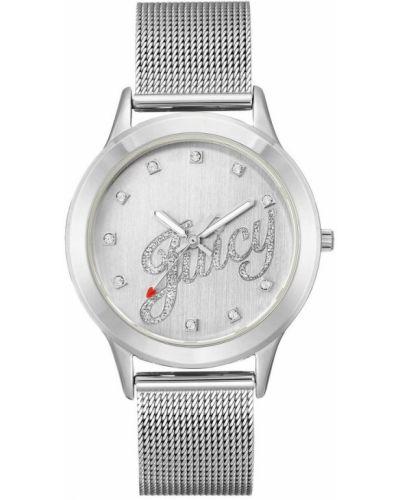 Zegarek mechaniczny srebrny na co dzień kwarc Juicy Couture
