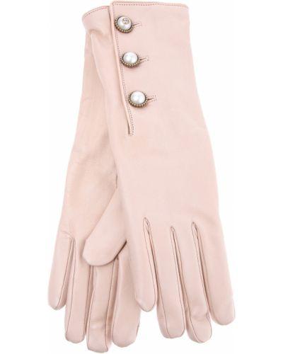 Кожаные перчатки с бусинками кашемировые Gucci