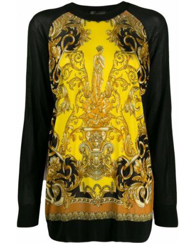 Джемпер леопардовый в полоску Versace