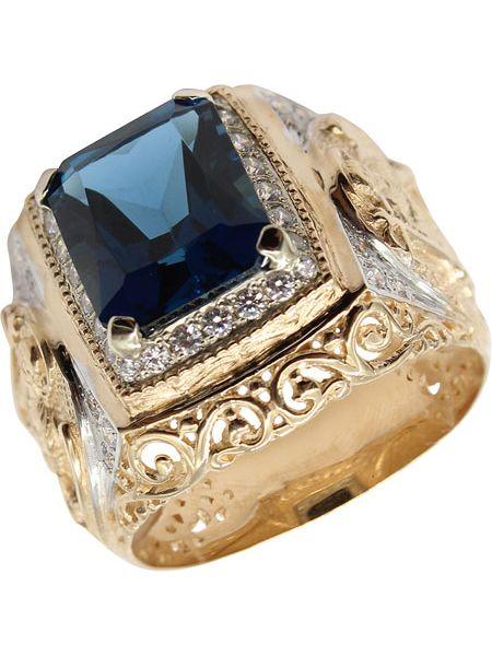 Кольцо с декоративной отделкой серебряный маршал
