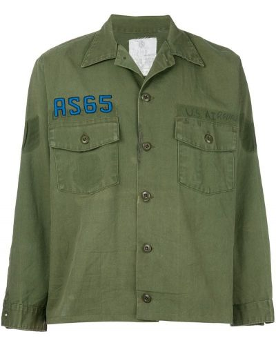 Рубашка с длинным рукавом с вышивкой зеленый As65