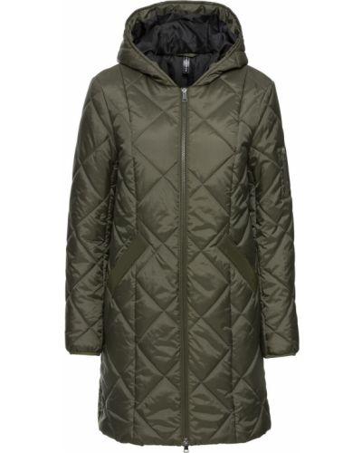 Черная стеганая куртка на молнии Bonprix