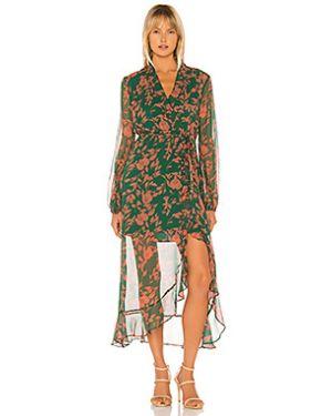Платье с поясом с запахом шифоновое Bardot