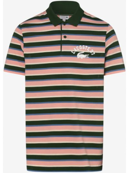 T-shirt z printem - pomarańczowa Lacoste