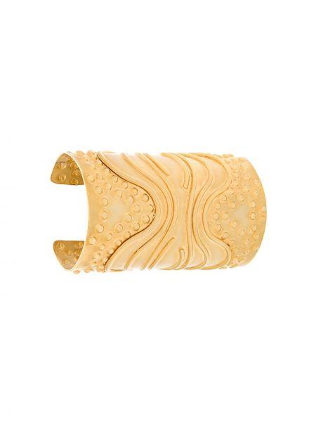 Желтый браслет металлический Krizia Pre-owned