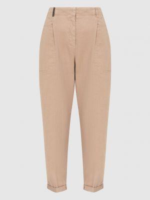 Повседневные бежевые брюки Peserico