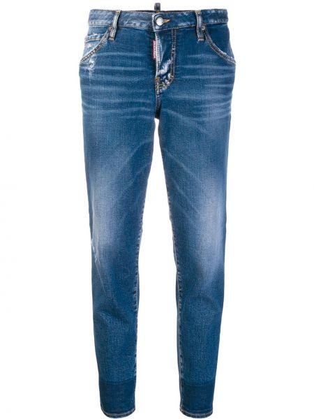 Классические прямые джинсы с карманами на пуговицах Dsquared2