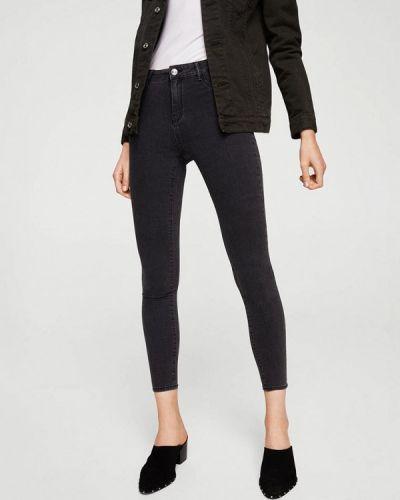 Черные джинсы с высокой посадкой Mango