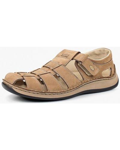 Бежевые сандалии кожаные Legre