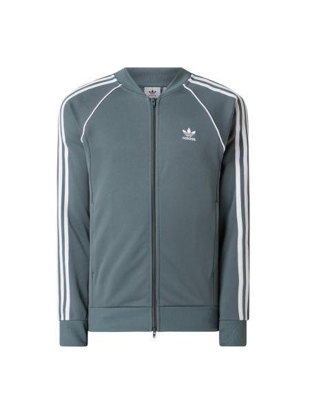 Bluza rozpinana bawełniana - turkusowa Adidas Originals