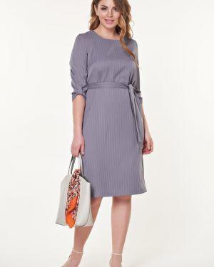 Платье макси в полоску с поясом Valentina