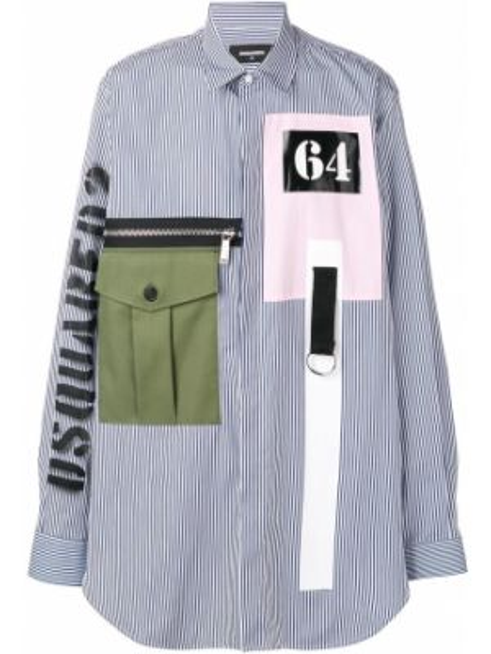 Koszula z długim rękawem klasyczna dżinsowa Dsquared2