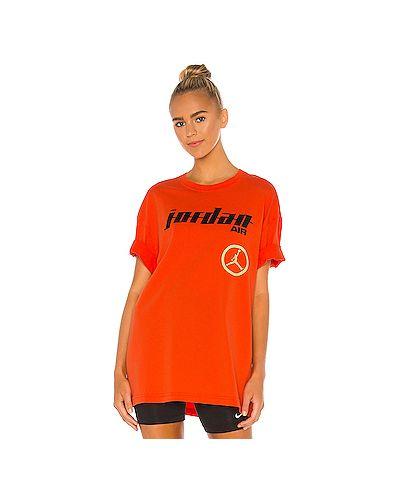 Оранжевый хлопковый топ Jordan