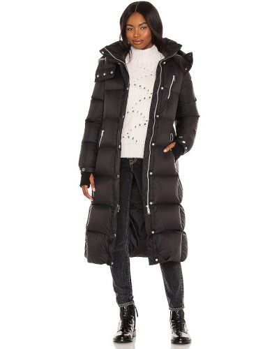 Черная пуховая куртка с капюшоном Soia & Kyo