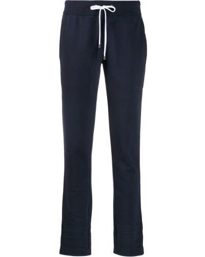 Темно-синие укороченные брюки с поясом Juvia