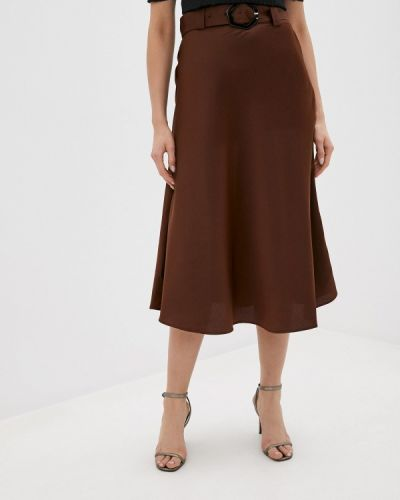 Коричневая юбка свободного кроя Twist & Tango