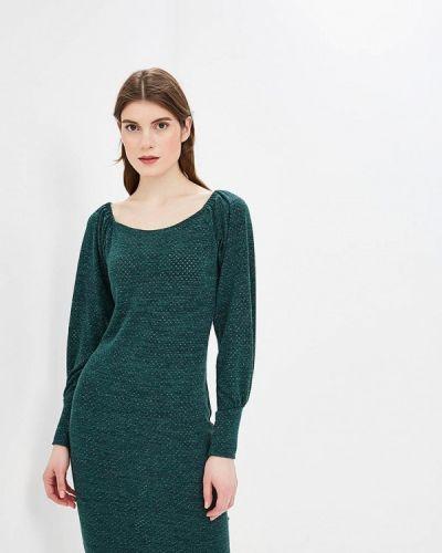 Платье с открытыми плечами зеленый Anastasya Barsukova