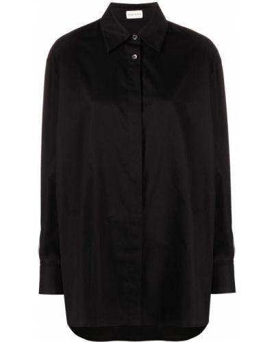 Хлопковая черная рубашка с воротником Magda Butrym