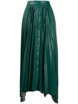 Кожаная юбка макси - зеленая Isabel Marant