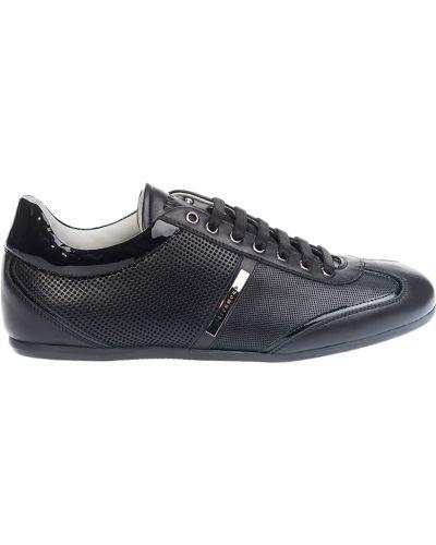 Черные кроссовки с перфорацией Richmond