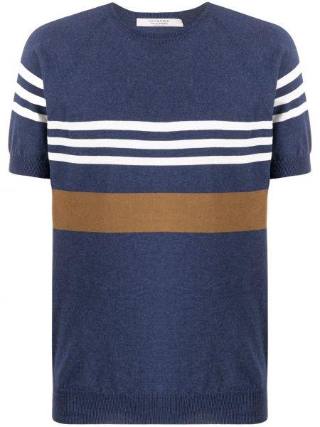 Синий свитер с нашивками La Fileria For D'aniello