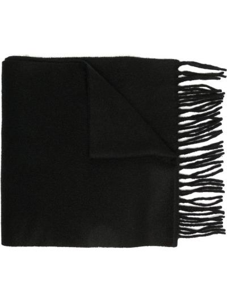 Kaszmir czarny koszulka polo z haftem prostokątny Polo Ralph Lauren