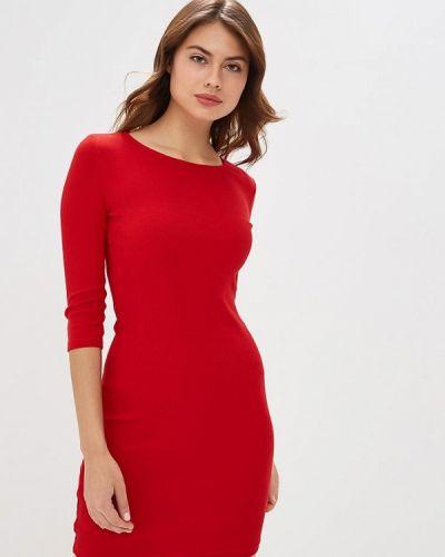 Платье футболка красный Ostin