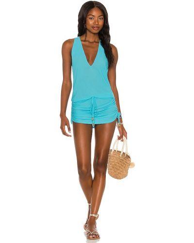 Платье мини - синее Luli Fama