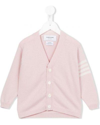 Кардиган розовый Thom Browne Kids