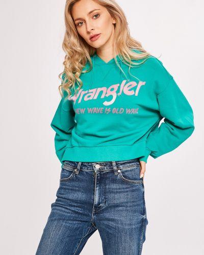 Зеленая кофта с капюшоном Wrangler