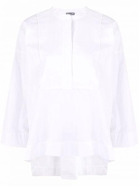 Хлопковая белая длинная рубашка с воротником Kristensen Du Nord