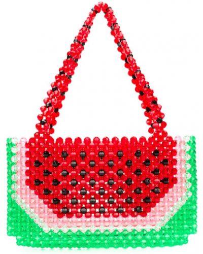 Красная сумка с ручками Susan Alexandra