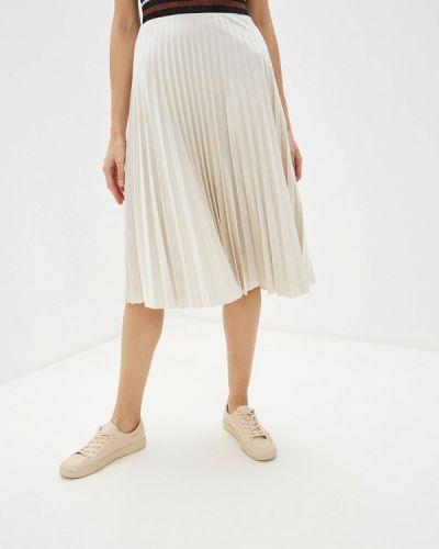 Плиссированная юбка бежевый Savage