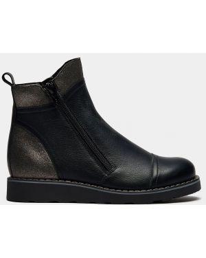 Деловые текстильные черные ботинки на молнии Ralf Ringer