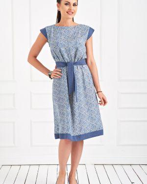 Летнее платье из штапеля с поясом Taiga