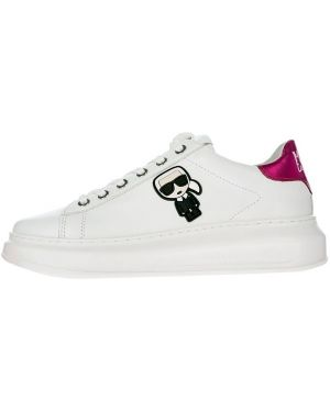 Кеды белые на платформе Karl Lagerfeld