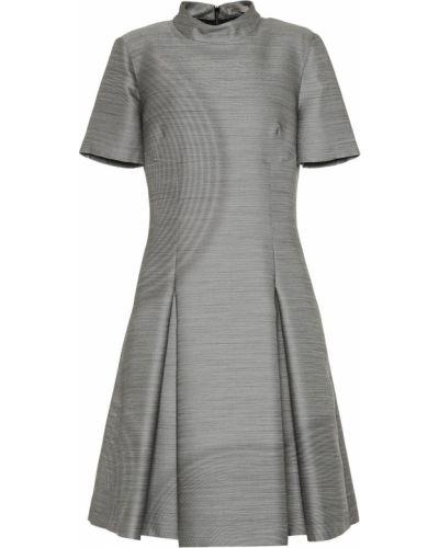 Платье серое шелковое Bottega Veneta