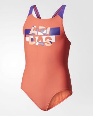 Слитный купальник с принтом для бассейна Adidas