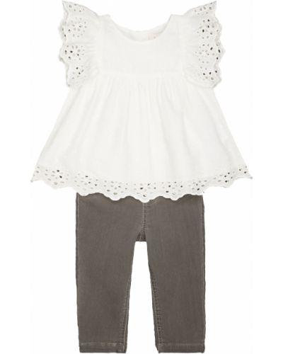 Блуза белая серая Mothercare