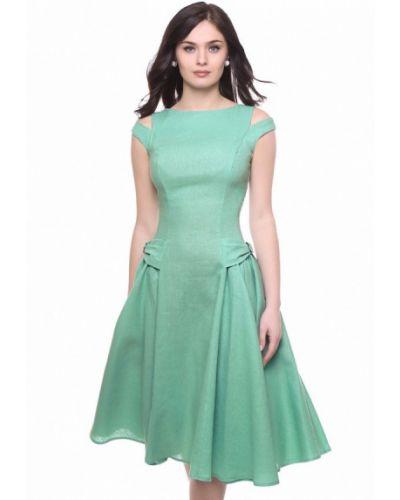 Повседневное платье осеннее зеленый Grey Cat